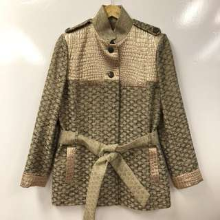 Matthew Williamson metallic gold jacket size 12