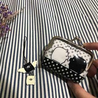 黑白豬吊飾+零錢包