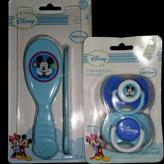 Disney comb & soother with cover