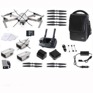 DJI Mavic Pro Platinum Fly More Combo accessories (no drone)