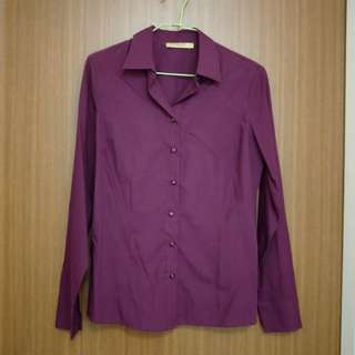 Maroon Long Sleeved Shirt