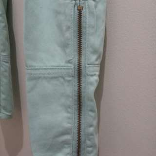 Forever 21 Mint Green Pants with side zipper