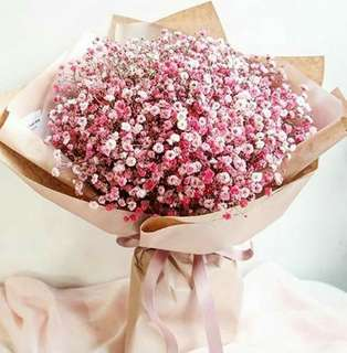 Baby Breath Bouquet For Her - 0088