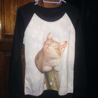 CAT LONG SLEEVE TEE