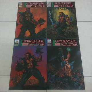 Max Brewster Universal Soldier #1 - 4 Complete Mini Series