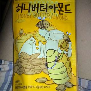Kacang Almond Honey import korea