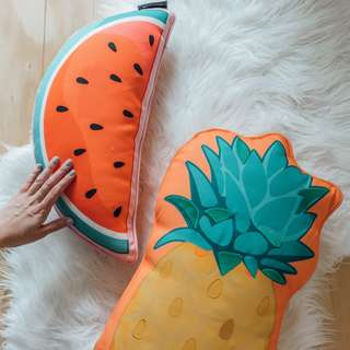 Sunnylife - Watermelon And Pineapple Pillow & Visors ✧ Tara Milk Tea
