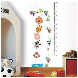 Grow Chart Wall Decal Sticker