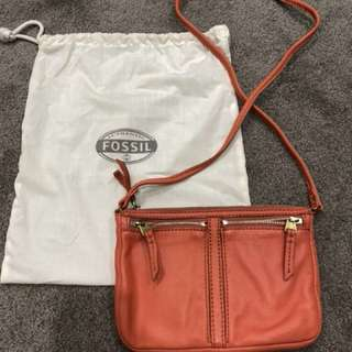 Brand new fossil leather bag