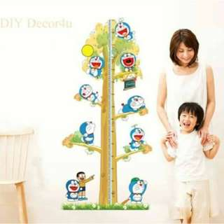 Doraemon Grow Chart Wall Decal Stickers