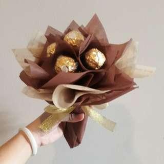 """""""Prosperity"""" gold ferrero rocher bouquet"""
