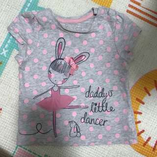 Mothercare Daddy's Little Dancer Tee (6-9M)