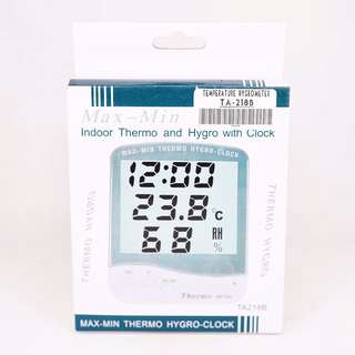 Temperature Hygrometer TA218B w/ Clock