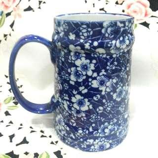 Vintage Calico Blue Chintz Mug