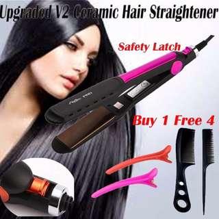 Ceramic Hair Straightener 3D Curling / Straightening