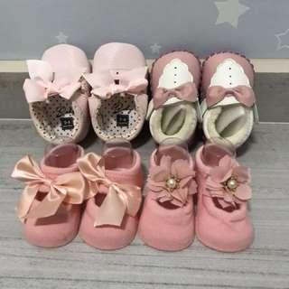 Baby Girl Shoes/ Socks 0-6mths