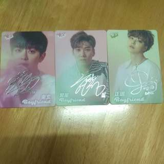5張特別版韓星yes!cards
