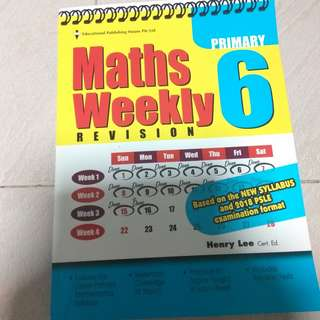 Maths Weekly Revision Primary 6