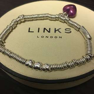 Links of London xs sweetie bracelet with heart charm