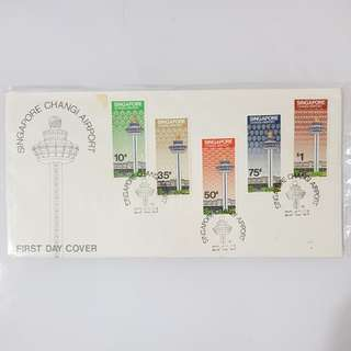 6× terminal 1 Singapore Changi airport t1 first day cover FDC 1981