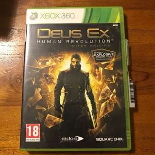 Xbox 360 game - Deus Ex Human Revolution