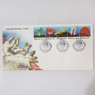 1× Corals first day cover FDC 1992