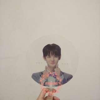 Bae Jinyoung High Knock Transparent Handfan.