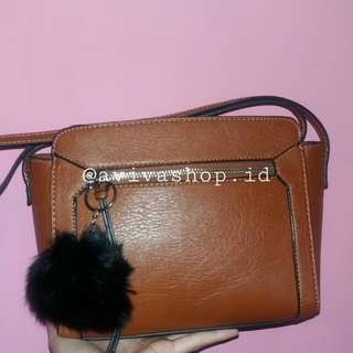 Stradivarius Brown Slingbag