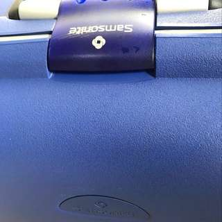Samsonite Blue 2 wheel roller