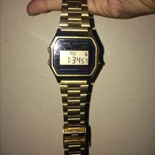 Gold Casio Watch