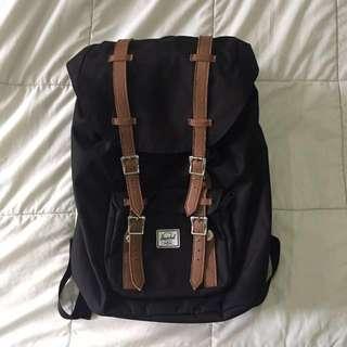 Herschel Little America Backpack Mid-Volume in Black & Tan 17L