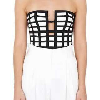 Black and white bustier crop top size 10