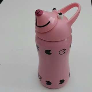 日本不鏽鋼動物水壺 - 超萌粉紅豬