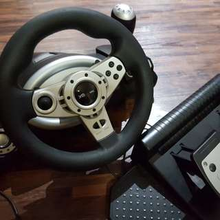 PC Korea Steering Wheel & Pedal From Gammac