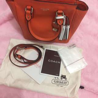 Authentic Coach Legacy Perforated leather bag