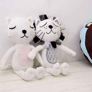 Sleeping cats soft toys