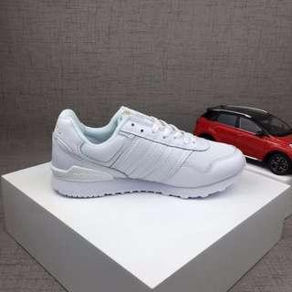 Adidas阿迪達斯 韓系休閒鞋 原宿風三杠鞋子 男女情侶鞋 時尚百搭運動鞋 網面透氣跑步鞋 舒適耐磨慢跑鞋