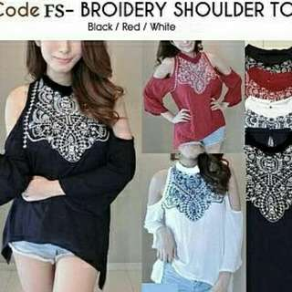 Blouse broidery