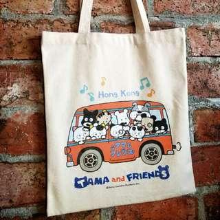 TAMA and FRIENDS 貓狗寵物街 環保袋 Tote bag