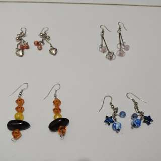 Cute earings 4pcs