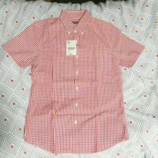 Giordano Checkered Short Sleeve Button Down shirt