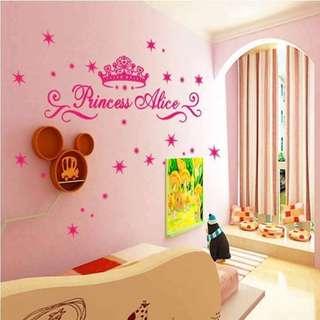 Princess Nursery Room Wall Decal Sticker