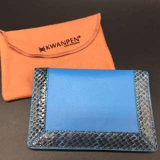 Kranpen Blue snakeskin passport case -Kwanpen 藍色蛇皮証件套