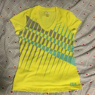 FILA Neon yellow shirt