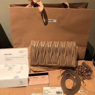 Authentic Miu Miu Clutch (brand New)
