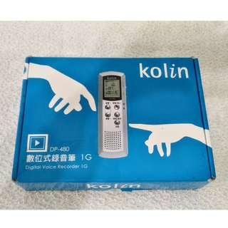 全新~ KOLIN 數位式錄音筆 1G DP-480