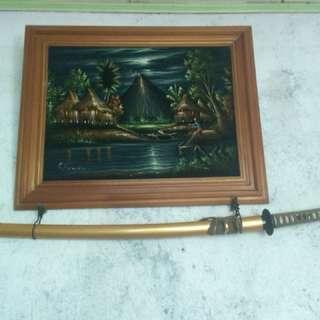 vintage samurai sword authentic