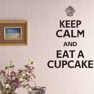 Keep Calm and Eat Cupcake  Wall Decal Sticker