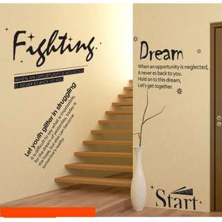 Inspirational Quote Sayings Wall Decal Sticker