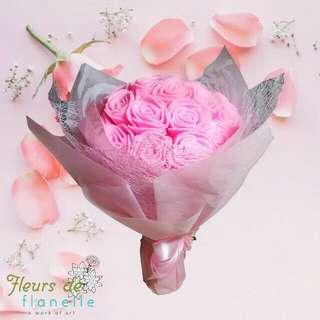 Flower Bouquet Flanel